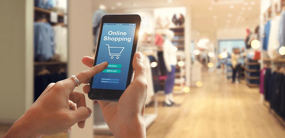 telefon-z-aplikacją-do-kupowania-online