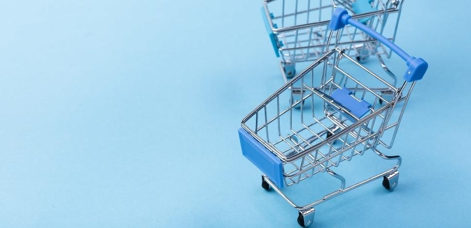 makieta wózka zakupowego